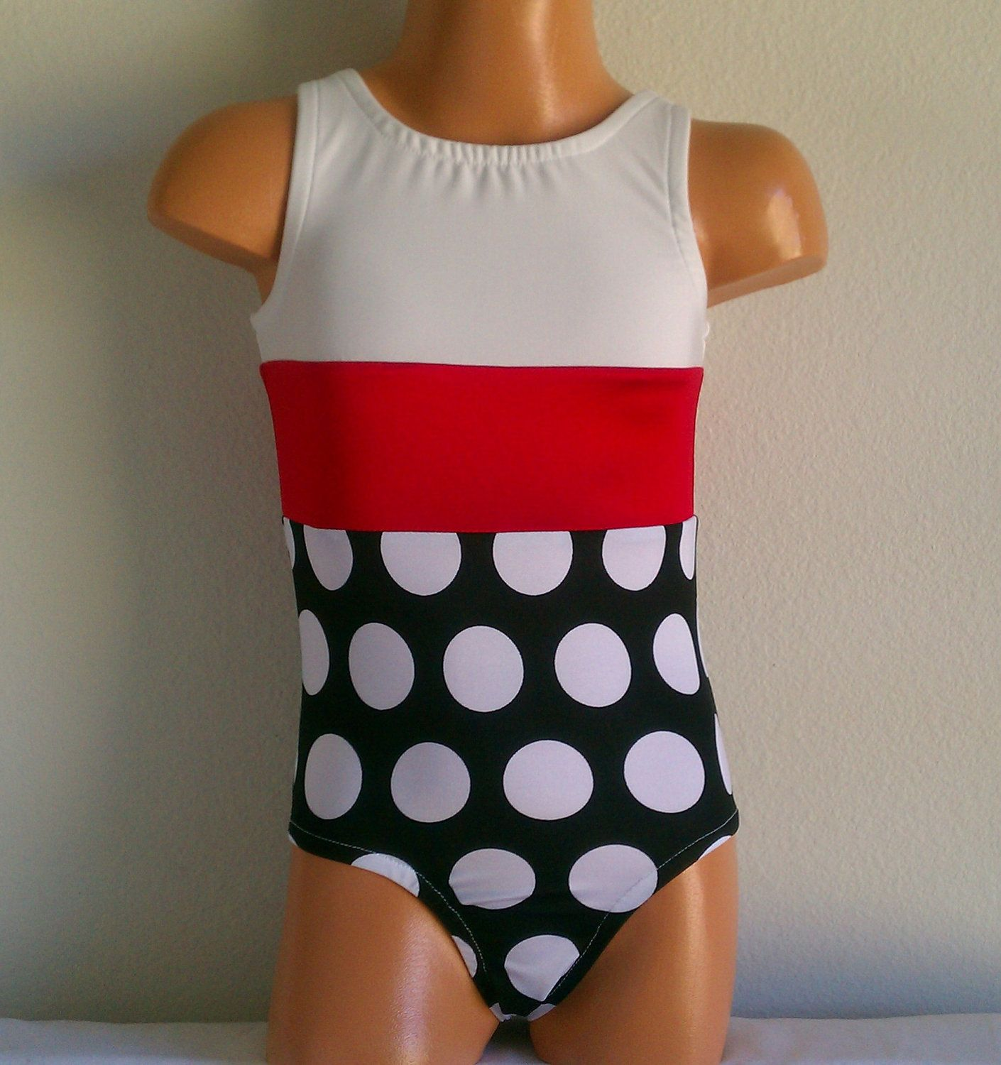 Gymnastics Leotard-toddler Girls Sizes 2t-4t Polka Dot