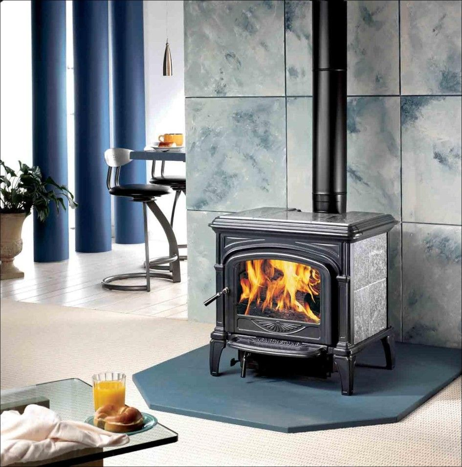 Decoration, Free Standing Fireplace Design That Made From Cast Iron Looks  So Sturdy Beautify Home