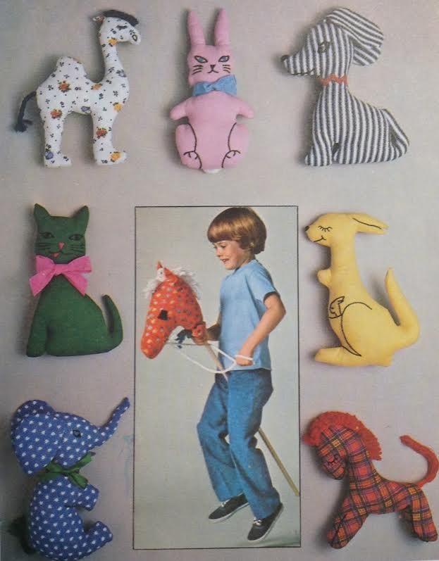 UC Vtg Simplicity 7744 Sewing Pattern Stuff Toy Animal Stick Hobby ...