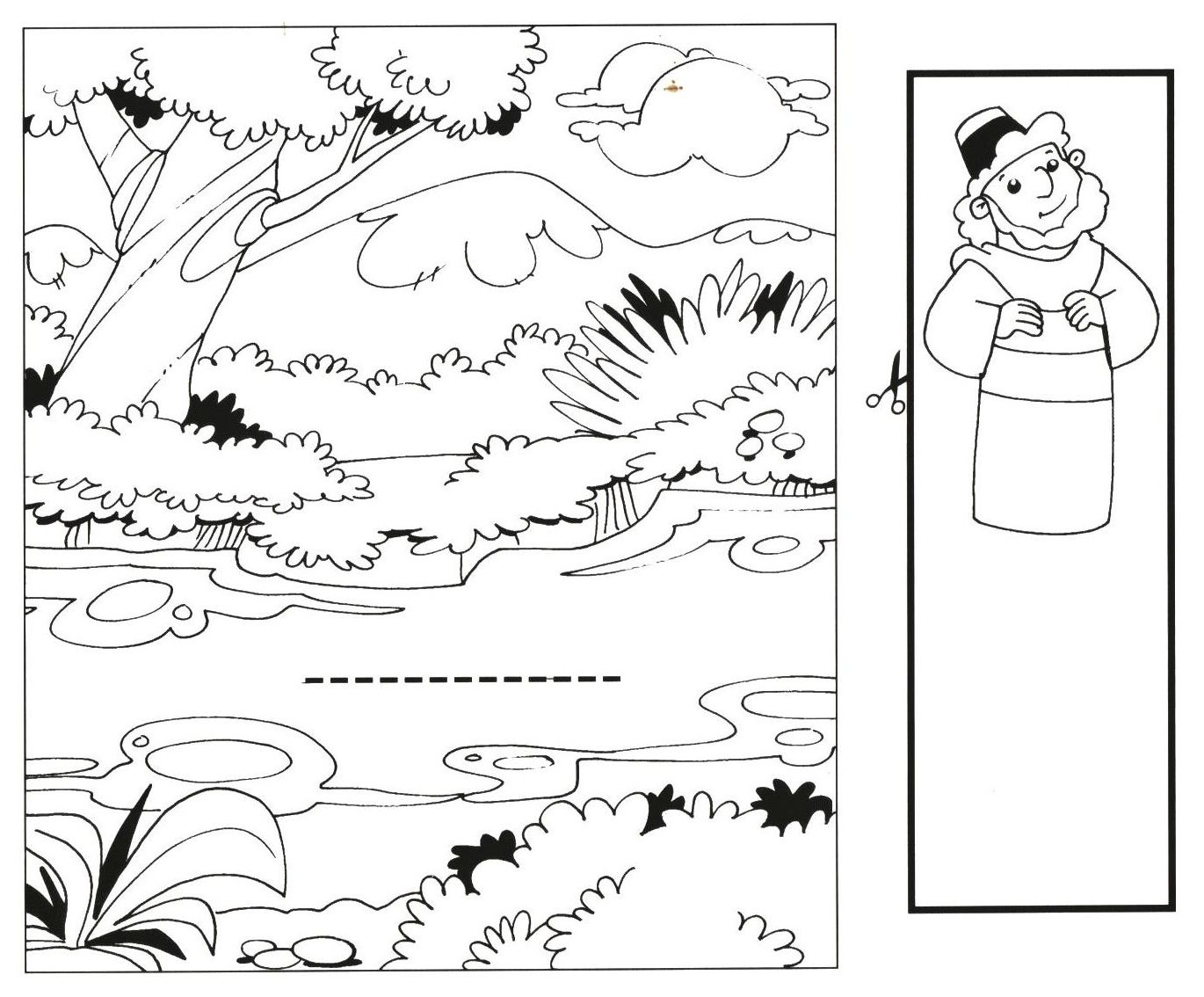 Naaman | Sunday school coloring pages, Coloring pages ...