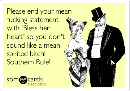 Southern rules baby! ;)