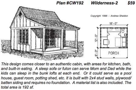 Free Cabin Blueprints | Sheldon Designs Wilderness Cabin Cabin House Plans Pinterest