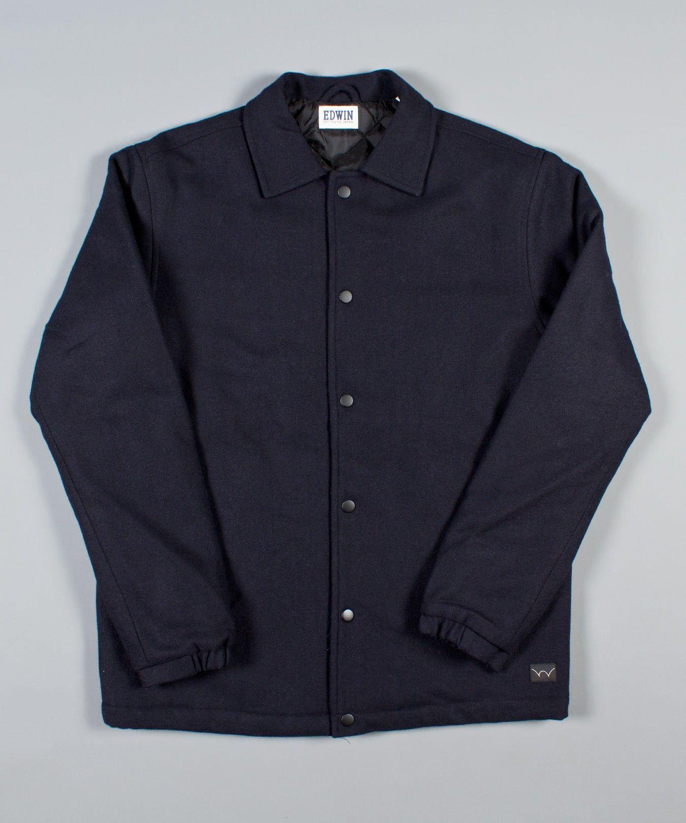 Edwin Japan at Weavers Door | Edwin AW14 | Jackets | Wool Coach Jacket | Navy & Edwin Japan at Weavers Door | Edwin AW14 | Jackets | Wool Coach ... Pezcame.Com