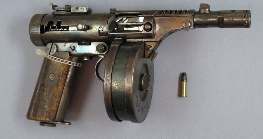 this is reputed to be a handmade submachine gun captured from a