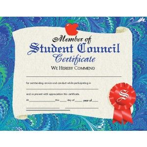 student council certificate 30 pack downloadable templates