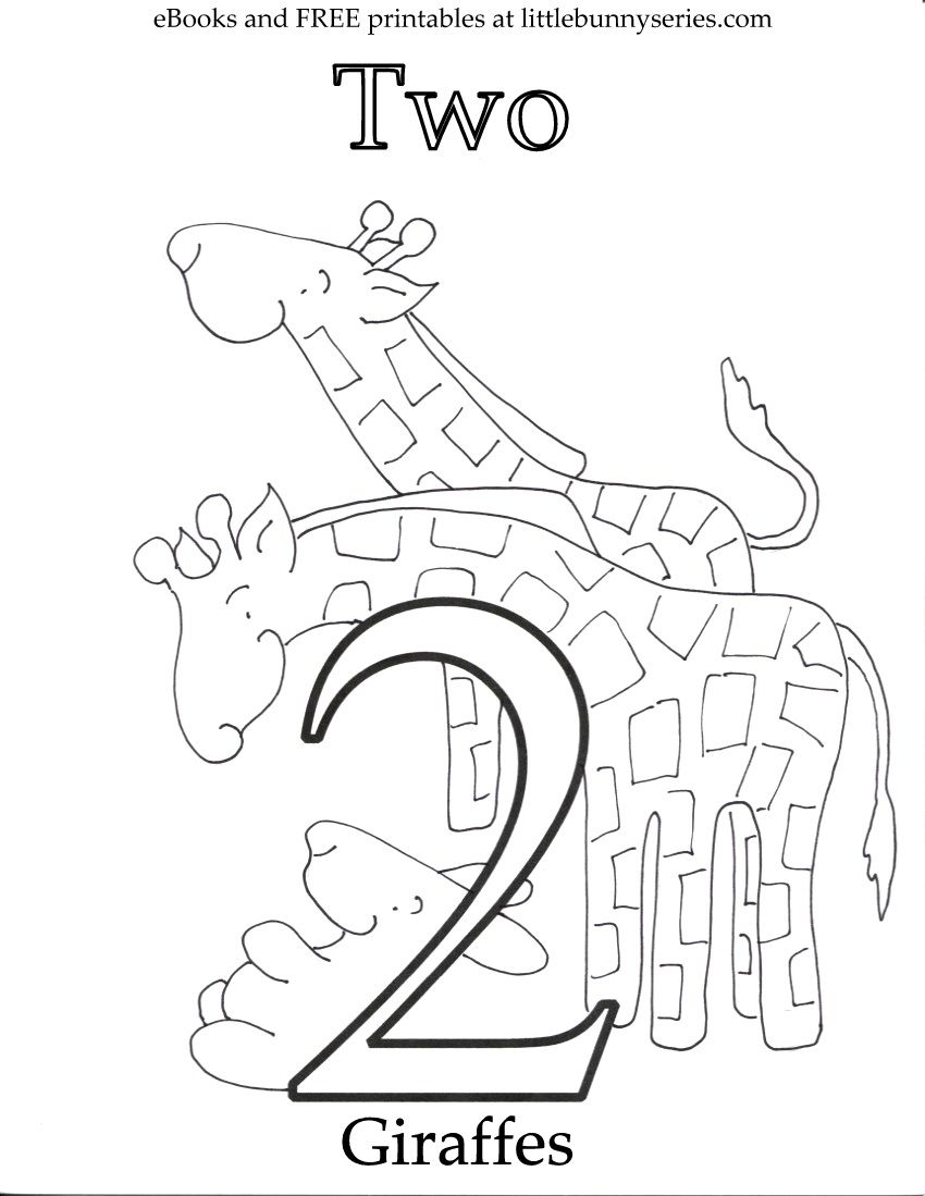 Number 2 Coloring Page Pdf Coloring Pages Letter A Coloring Pages Free Preschool Printables