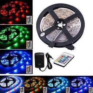 Premium 16ft Color Changing 300 LEDs Light Strip Set...outdoor/solar