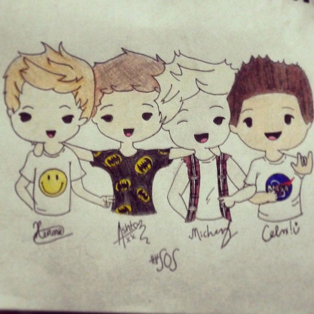 5 Seconds of Summer Drawings | seconds of summer by beatrizcrato fan art traditional art