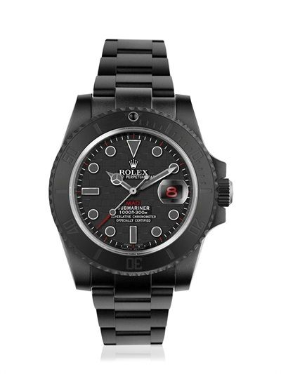 Mad - Grey & Red Carbon Submariner Watch