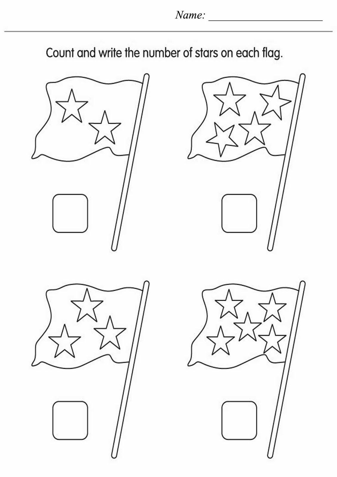 Count The Stars Worksheet