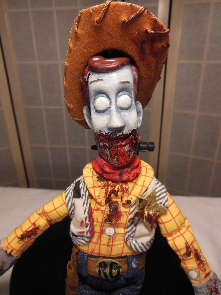 ooak zombie creepy doll rick grimes sheriff walking dead