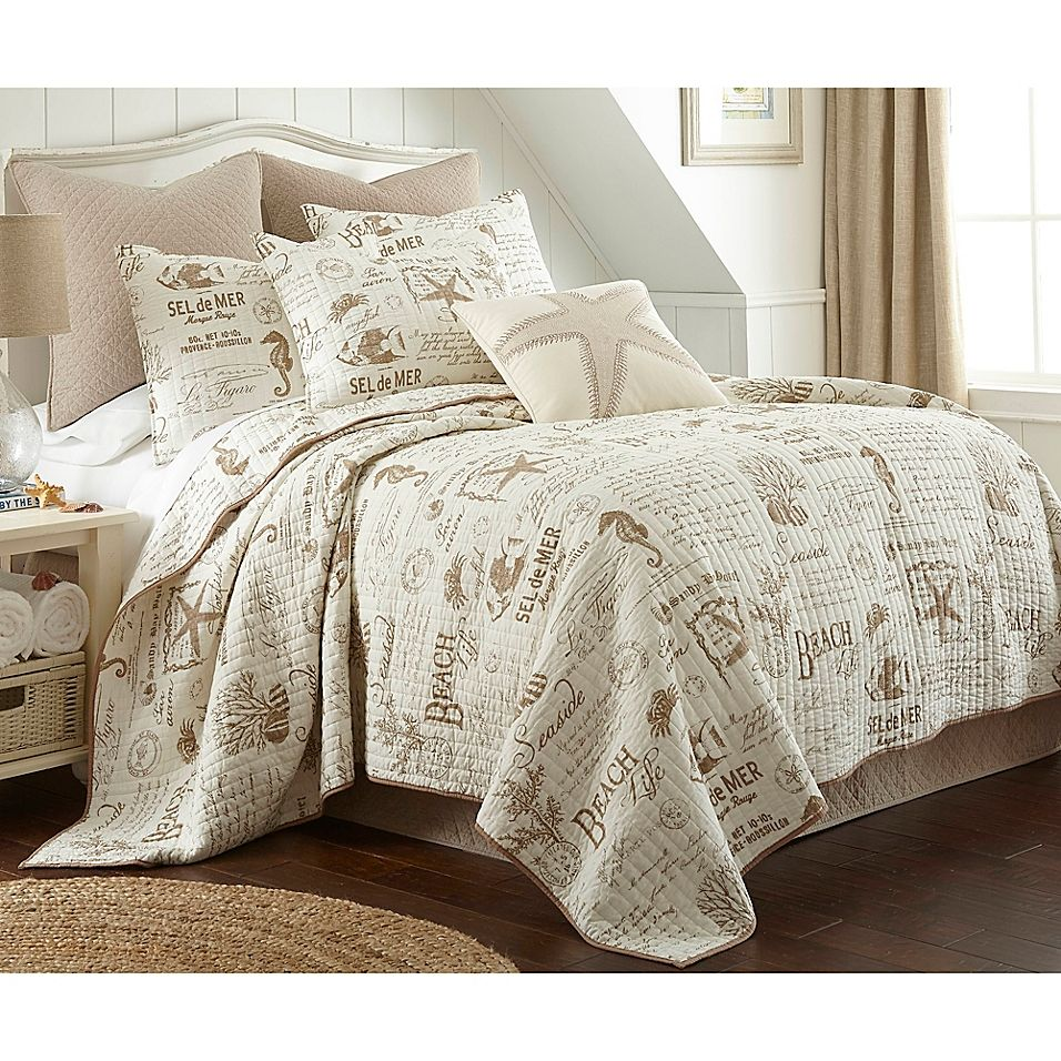 Levtex Home Beach Life Twin Quilt Set In Taupe Beige Comforter