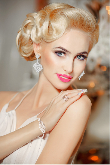 Regal CZ Chandelier Wedding Earrings | Wedding hair inspiration, Trendy wedding hairstyles ...