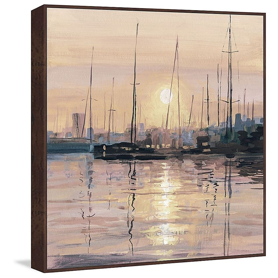 Marmont Hill Eminent Sunset Floater Frame Canvas Wall Art Bed Bath Beyond Framed Canvas Wall Art Giclee Painting Framed Canvas Art