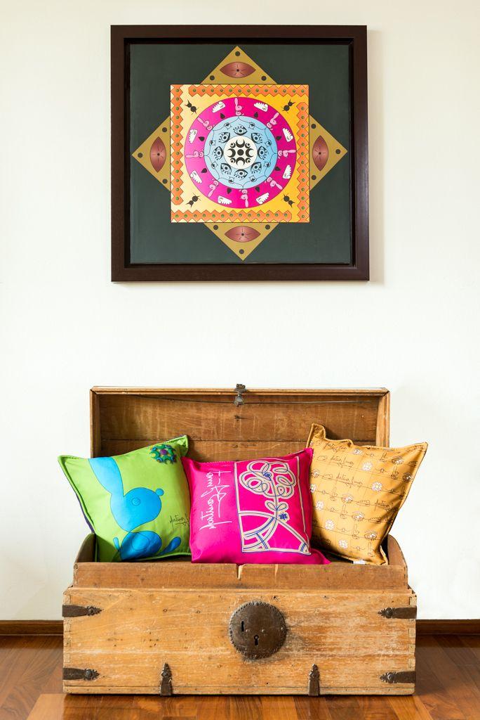 "Digital Impresion ""Mandala"" Pillow Cover"