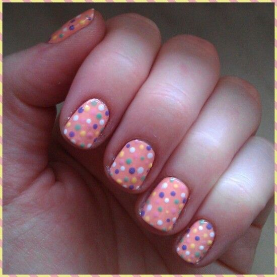 My new #polkadotnails just look like some #cute #nails disease :D #NOTD