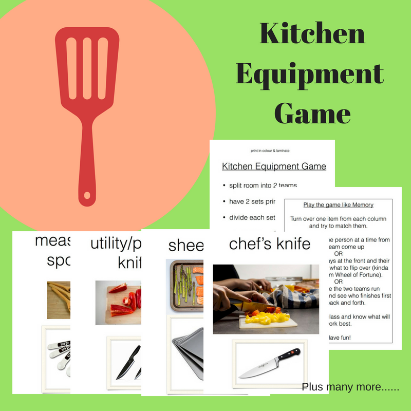 Kitchen Equipment Game Family Consumer Science Facs Fcs