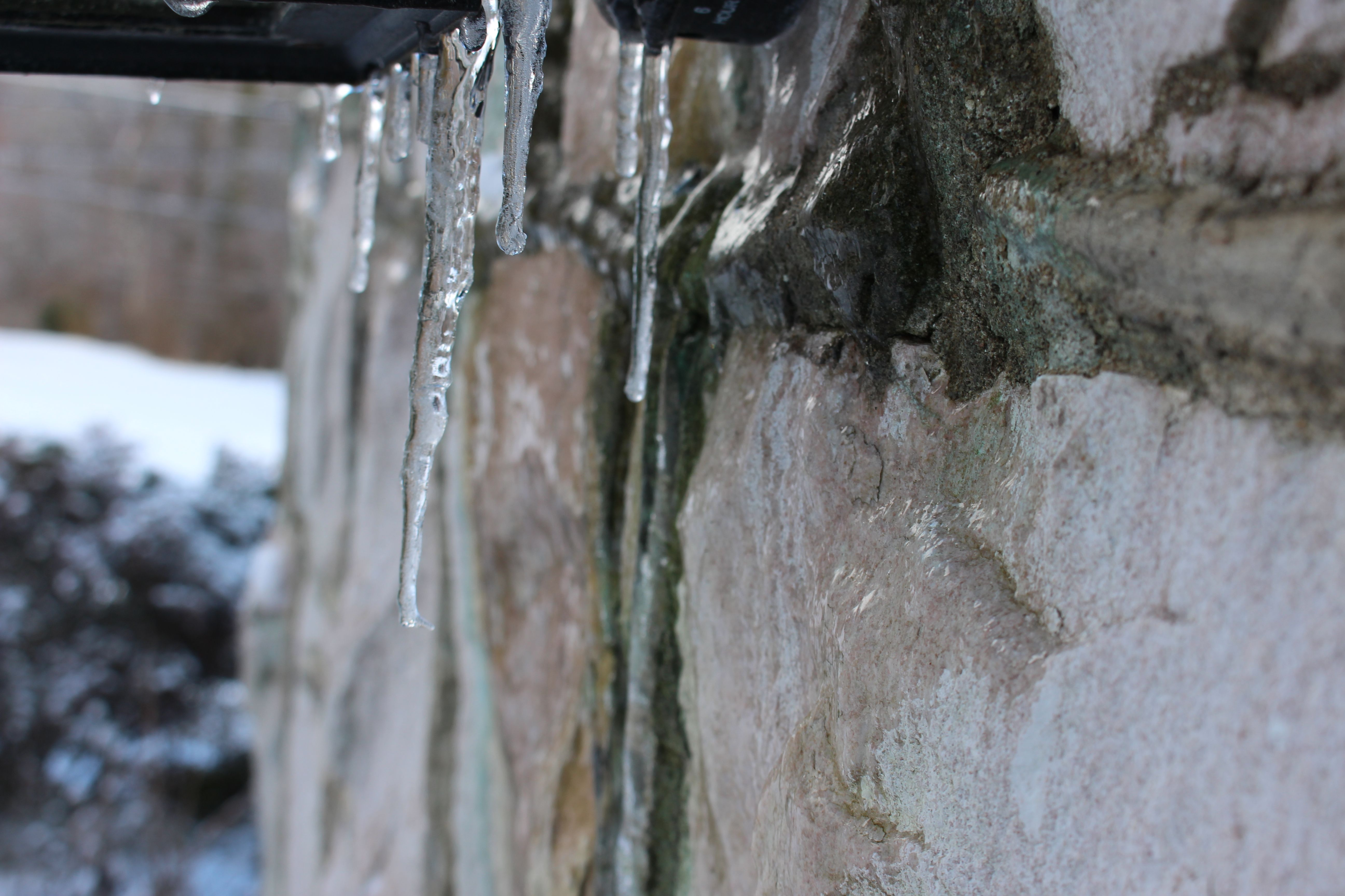 Icicles Next To Pink Marble South Knoxville Tn