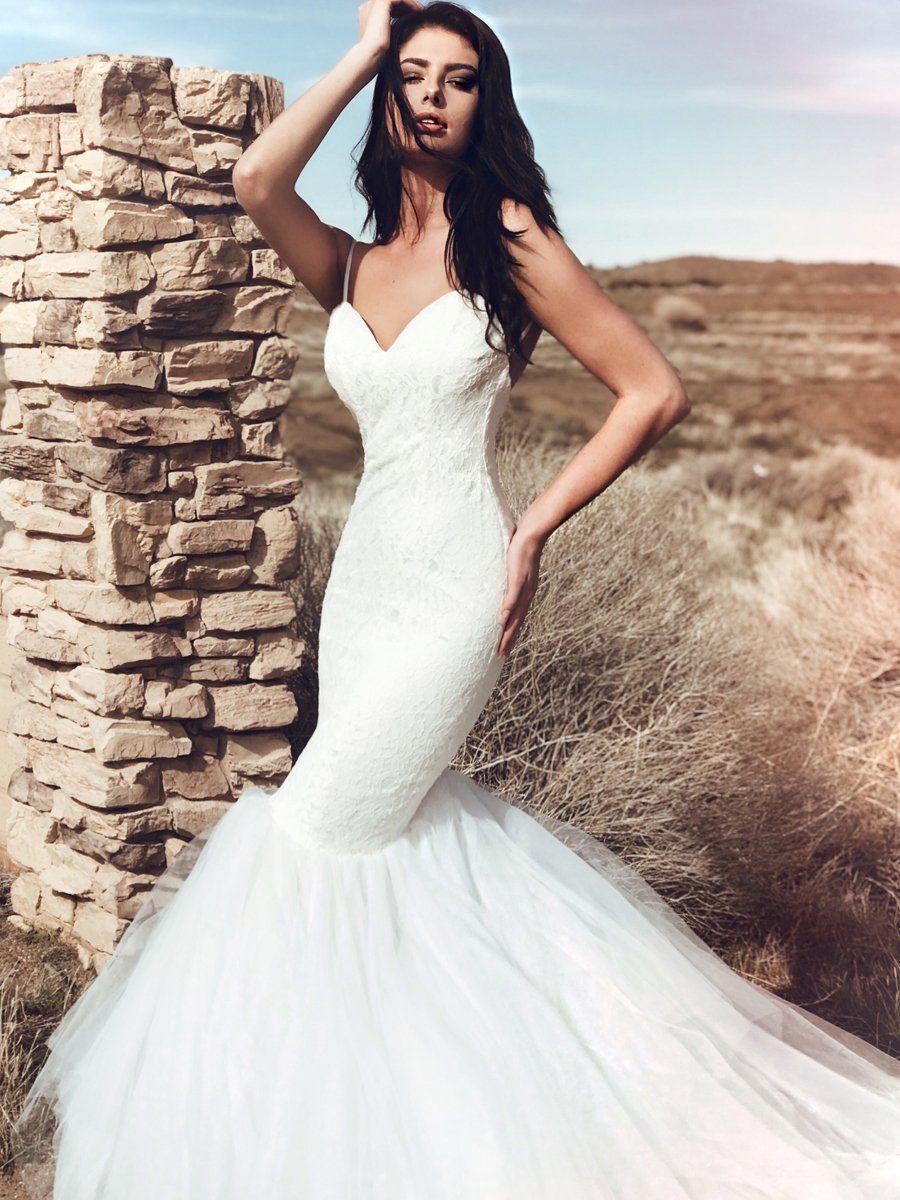 Lola Lace mermaid wedding dress, Affordable wedding