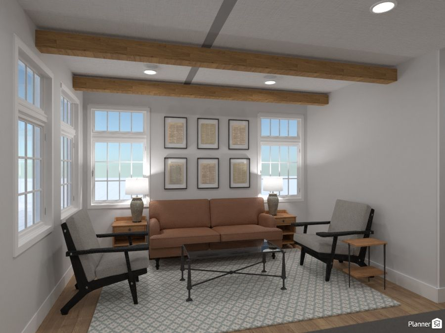 Living room interior, PLANNER 5D