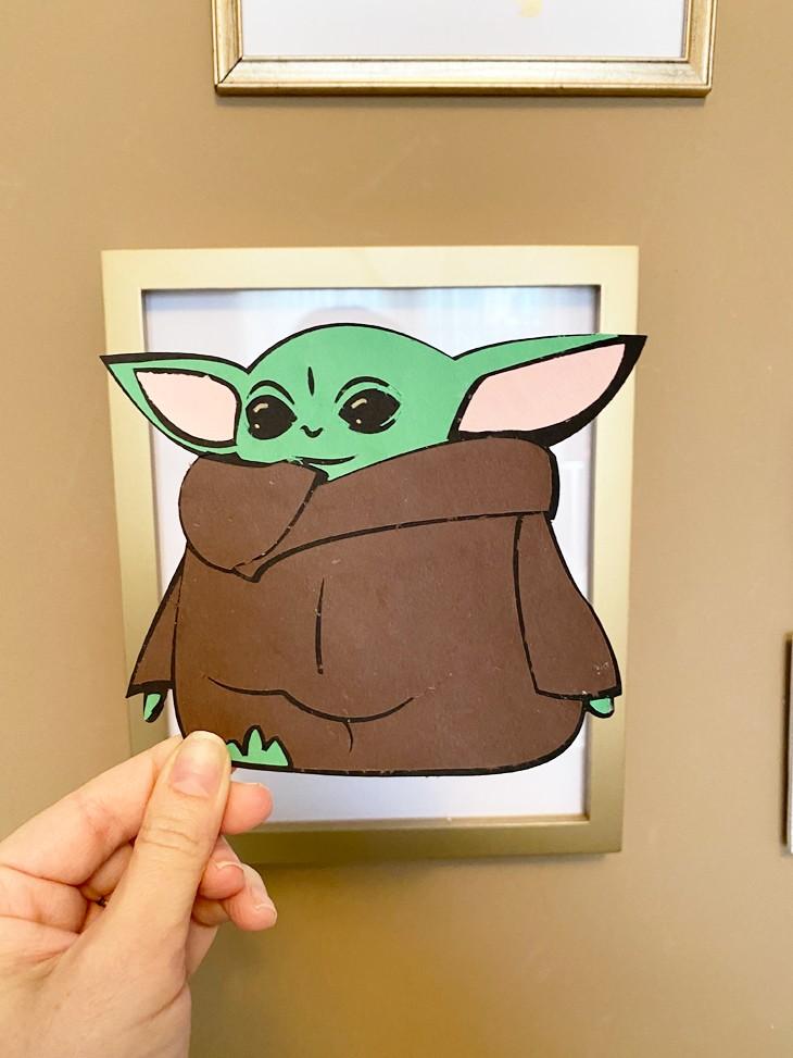 Baby Yoda SVG for Cricut Printable sticker paper, Cricut