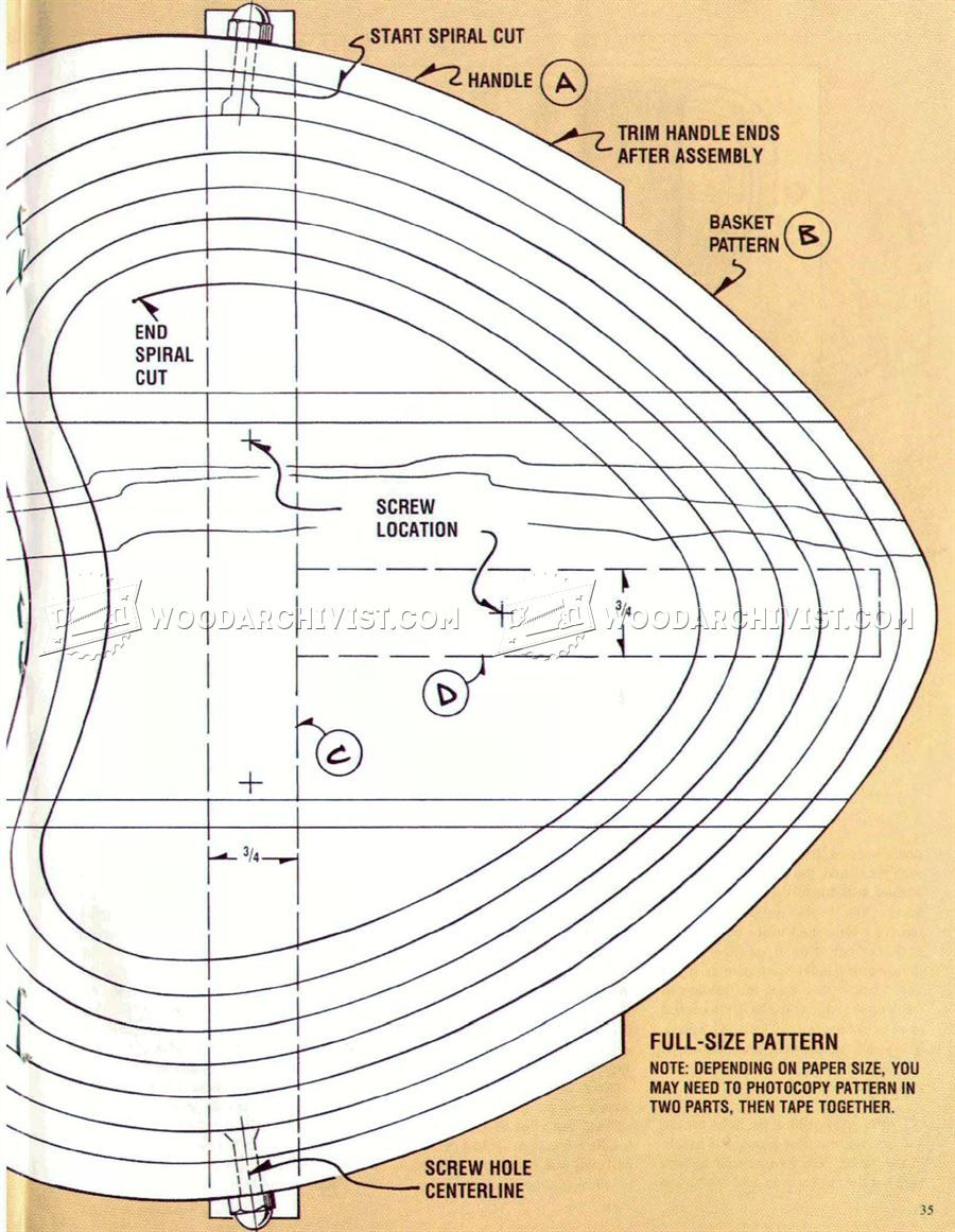 2339 Collapsible Wooden Basket Plans - Scroll Saw Woodworking Plans