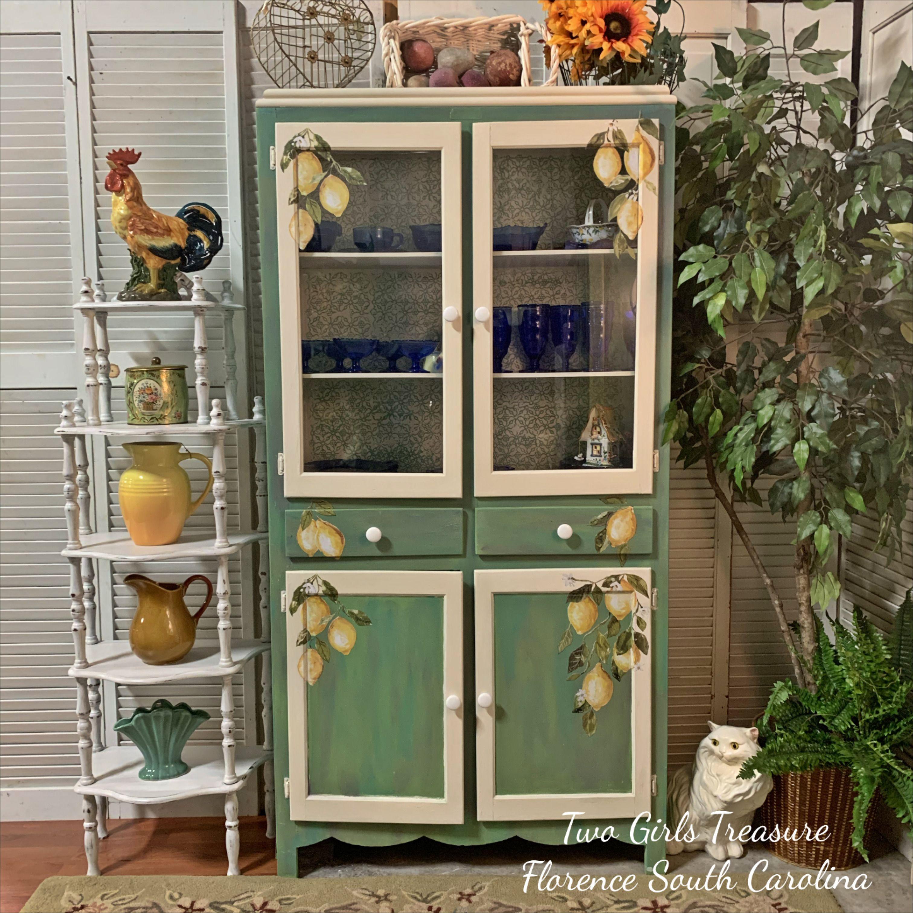 Watercolor Lemon Drop Vintage Sheirich Cupboard Rethunk Junk Paint Vintage House Iron Orchid Designs