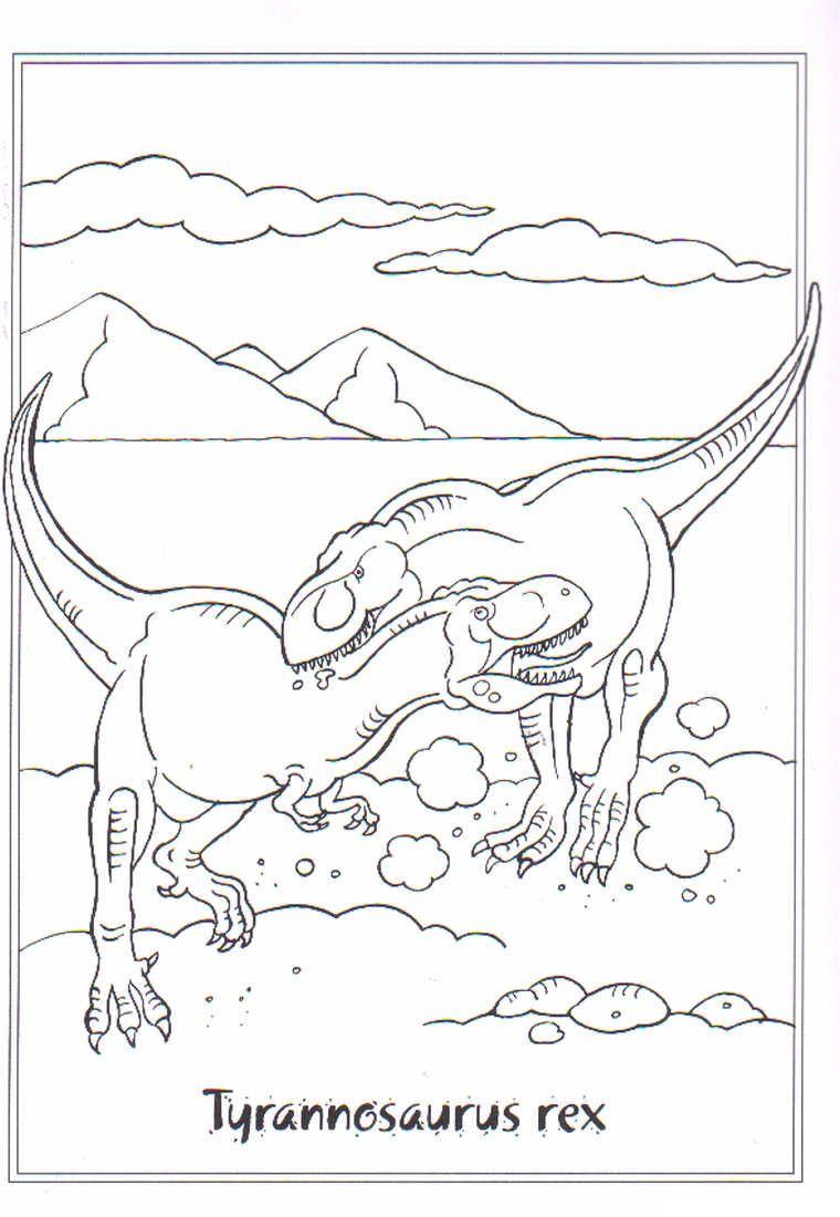 Ausmalbilder Dinosaurier Rex : Ausmalbild Dinosaurier 2 Tytannosaurus Rex Ausmalbilder