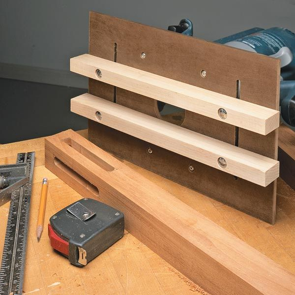 Router jig for perfect mortises woodsmith tips for Diy router