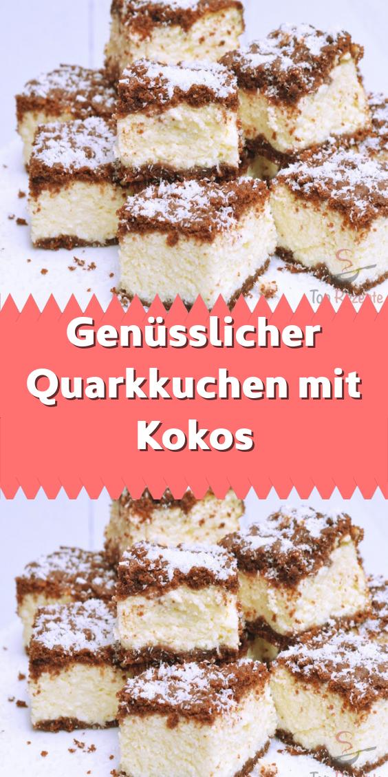 Genüsslicher Quarkkuchen mit Kokos