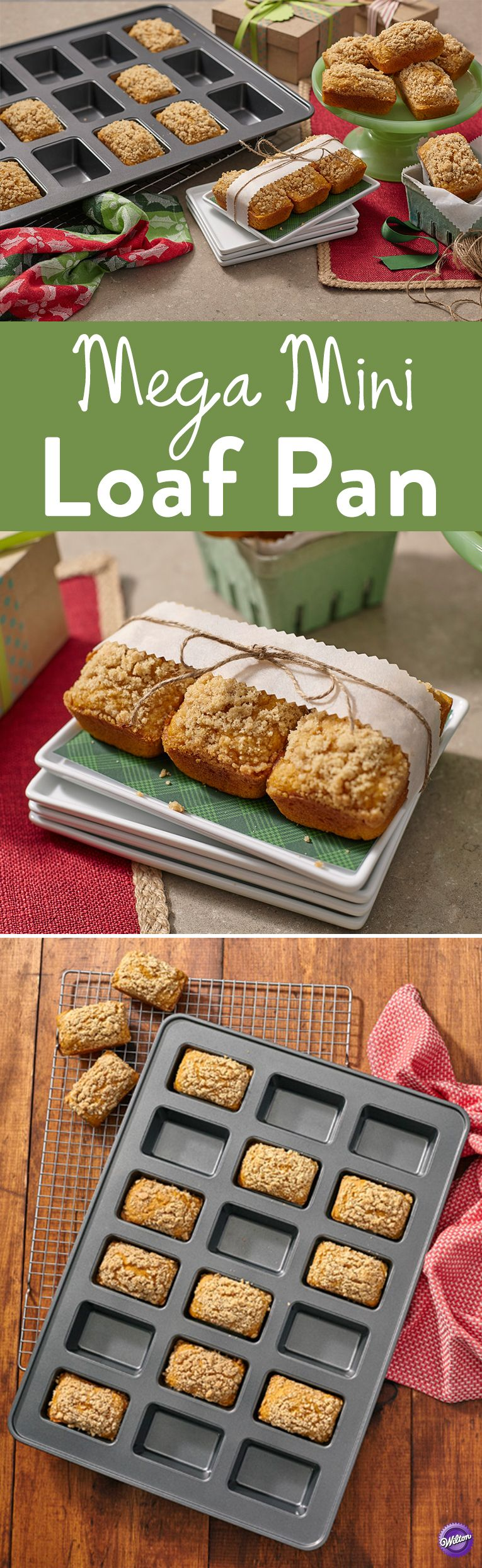 Perfect Results Premium Non Stick Mini Loaf Pan 18 Cavity