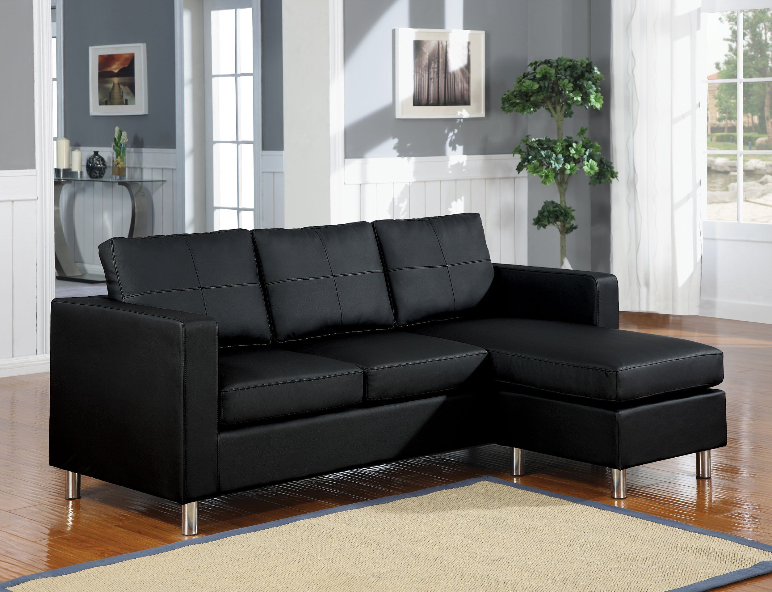 Modern Style Sectional Sofa Black Sectional Sofa Sectional