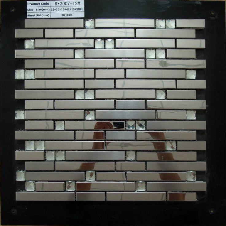 Menards Kitchen Backsplash Panels Stainless Steel Metal Tile Mosaic Kitchen Backsplash Protector Contra Salpicaduras Cocinas Con Mosaico Gabinetes De Madera