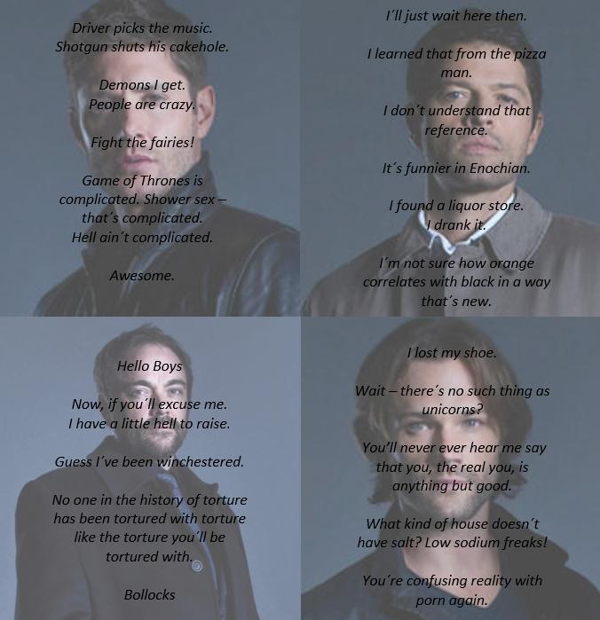 Supernatural   Cass Quotes Spn