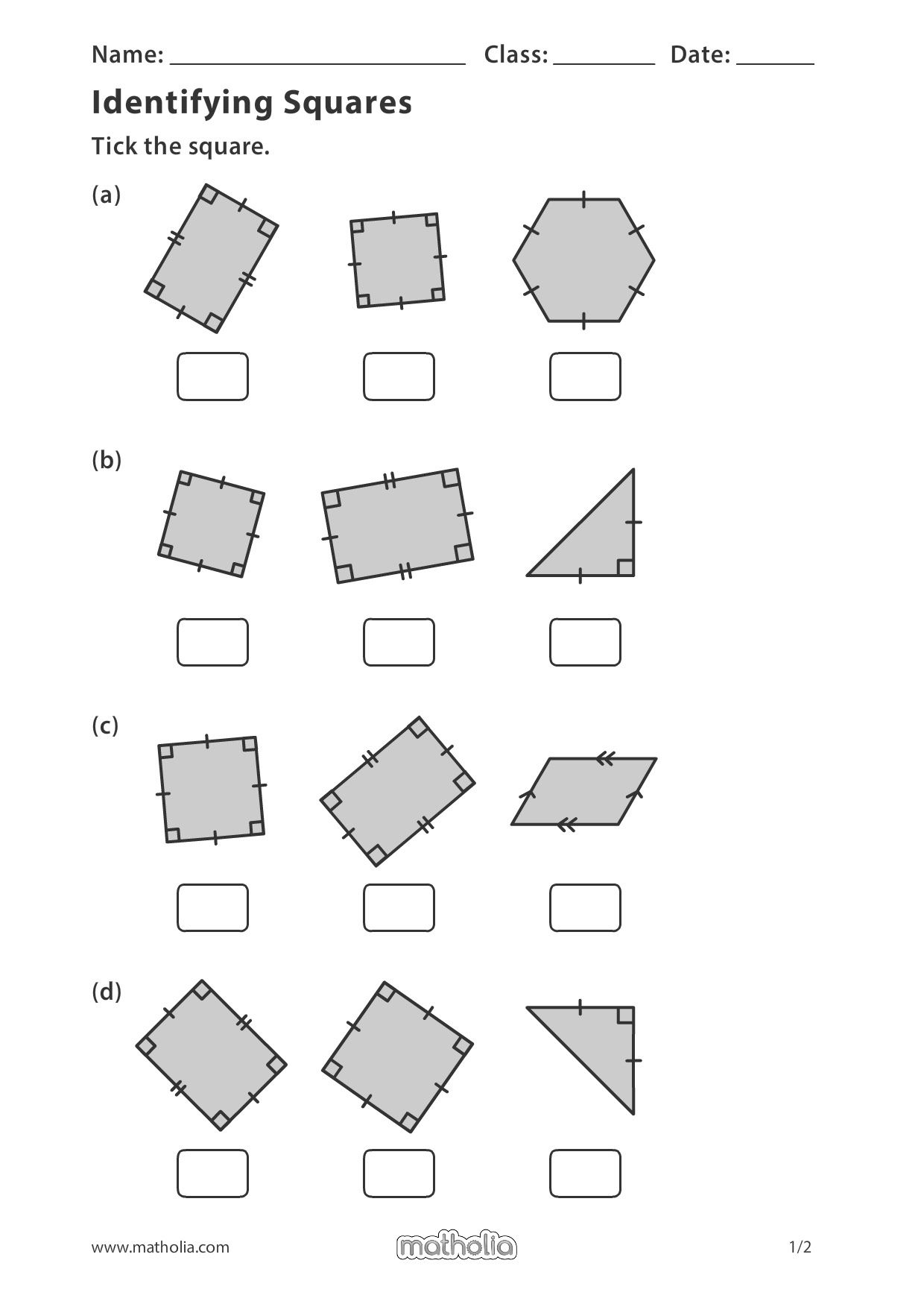 Identifying Squares In