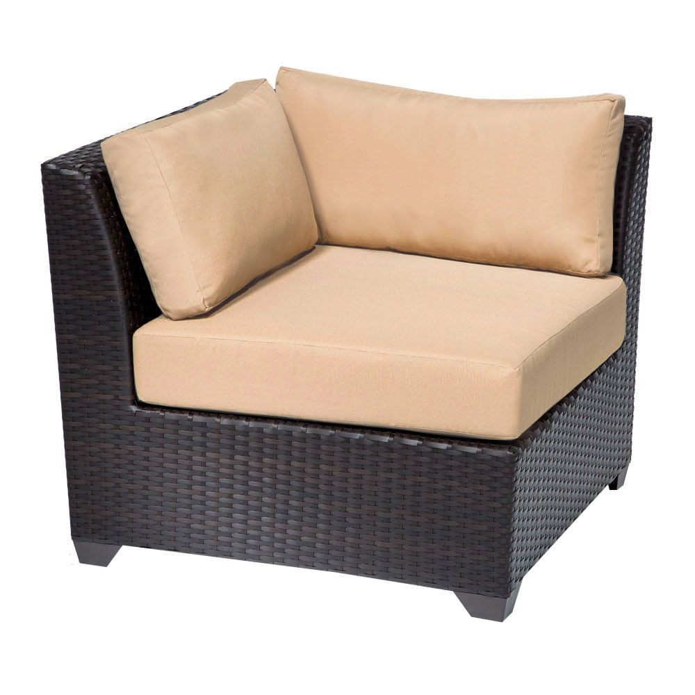 TKC Barbados Corner Outdoor Patio Sofa Set, Sesame