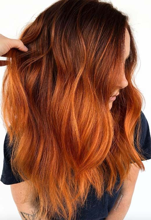 53 Fancy Ginger Hair Color Shades to Obsess over: Ginger Hair Facts #copperbalayage