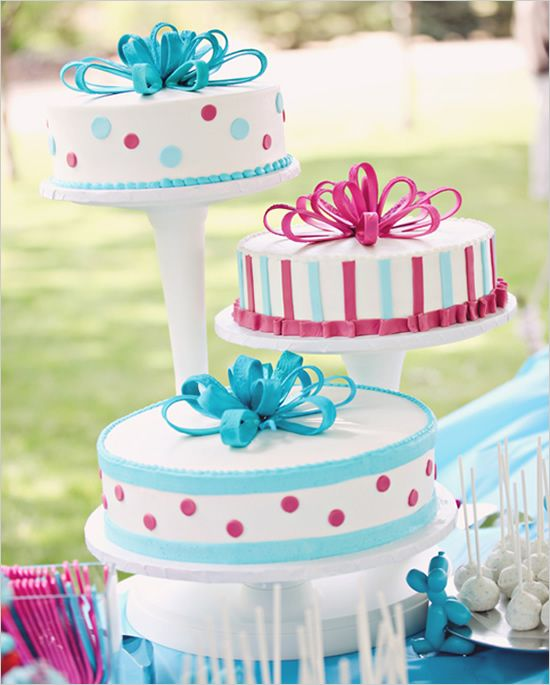 Wedding Cakes Inspired By China Patterns: Pink And Blue Carnival Inspired Wedding