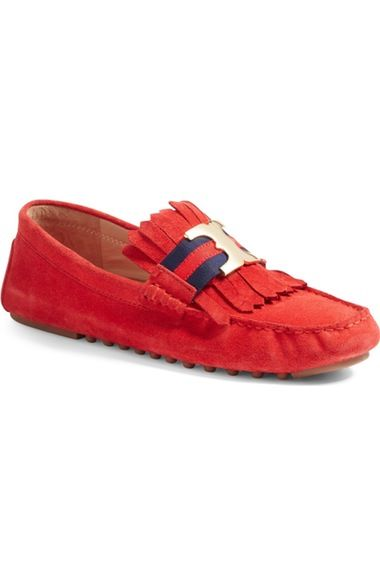 b84a9af1b8090 Tory Burch Gemini Link Driving Moccasin (Women) available at  Nordstrom  Loving the green color!