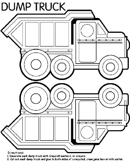 Http Www Crayola Com Free Coloring Pages Print Dump Truck Box