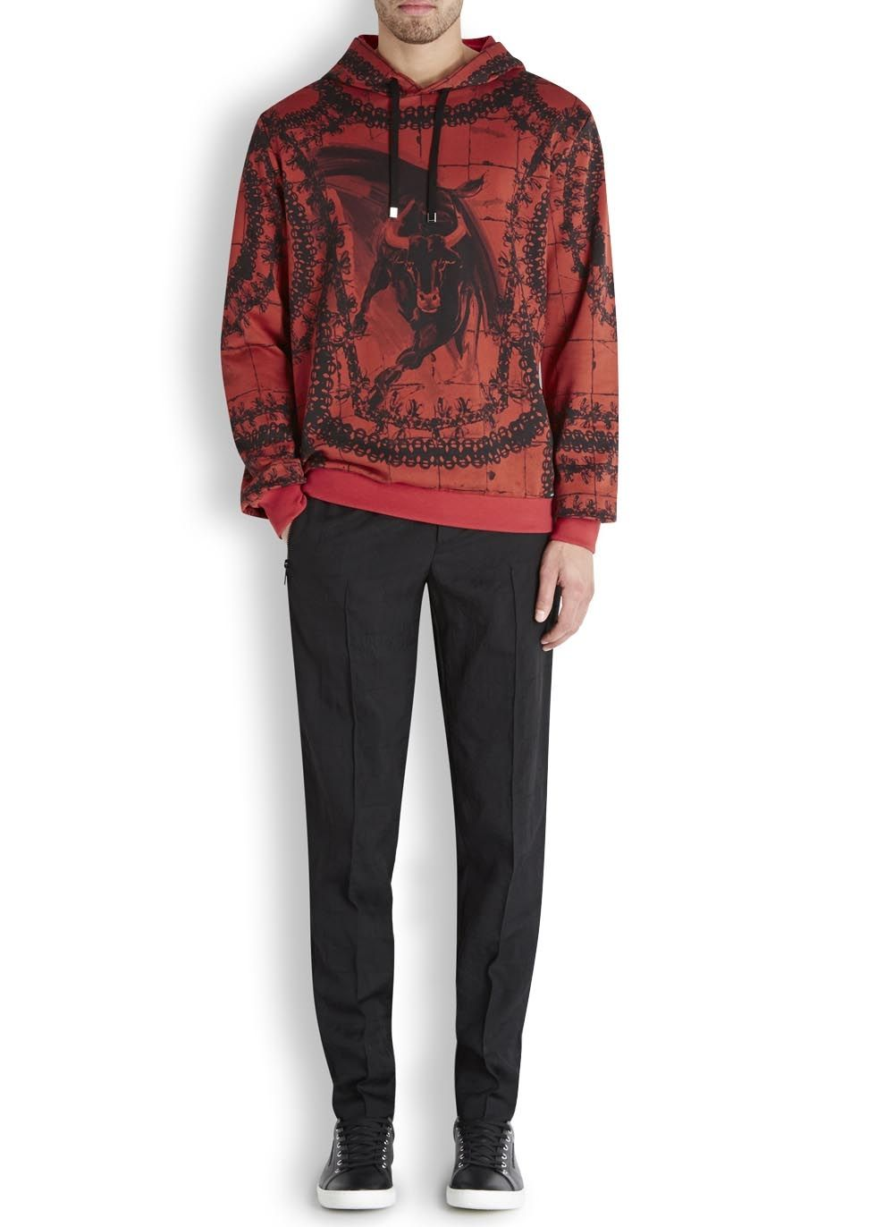 DOLCE & GABBANA Red bull print cotton sweatshirt (SC116113) £385.00