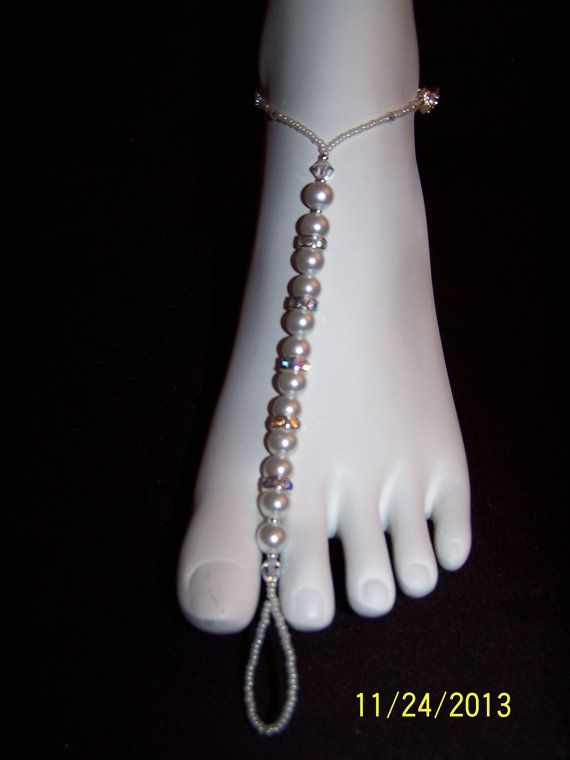 White pearl and AB Swarovski crystal accent by GreenBridalBoutique, $35.00