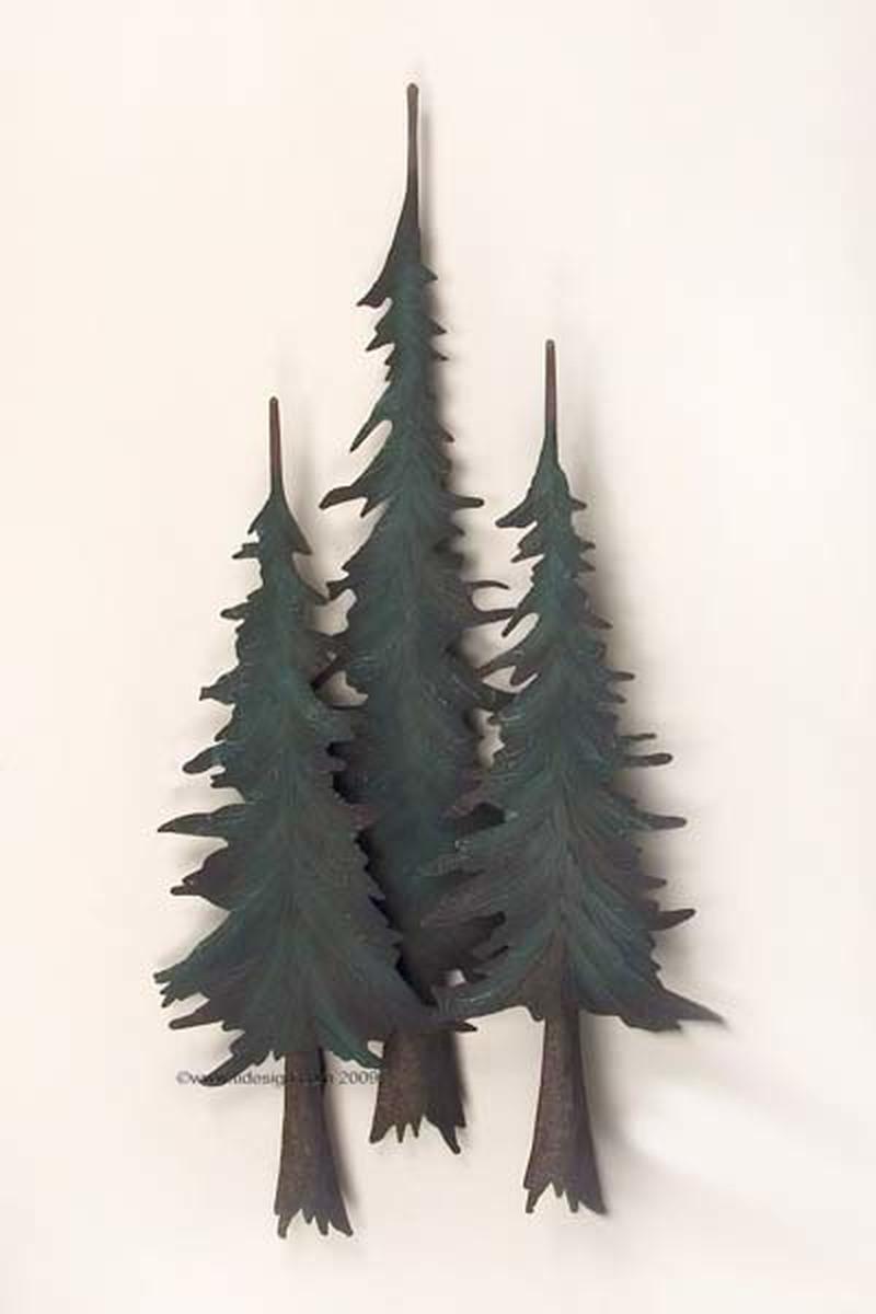 Pine Tree Forest Metal Tree Wall Art Metal Tree Metal Wall Art