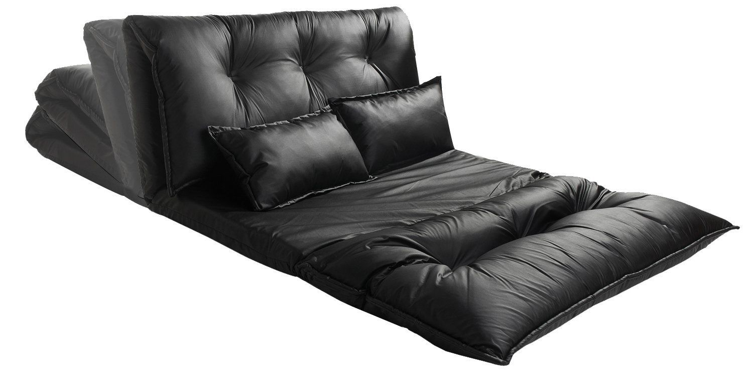 Best Amazon Com Merax Pu Leather Foldable Modern Leisure Sofa Bed Video Gaming Sofa With Two Pillows 400 x 300