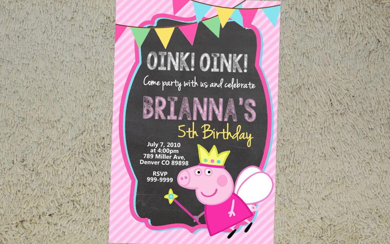 Printable Peppa Pig Birthday Invitation - Peppa Pig Invitation ...