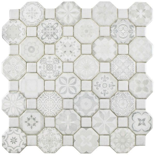 Small Decorative Tiles White Ceramic Porcelain Decorative Tile  Somertile Ceramic Floor