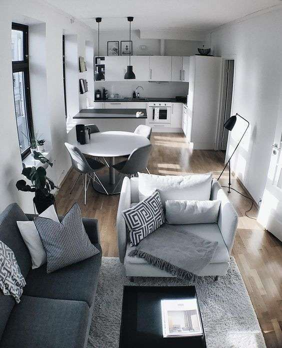 Idee per arredare un appartamento di 70 mq in 2019 | Small spaces ...