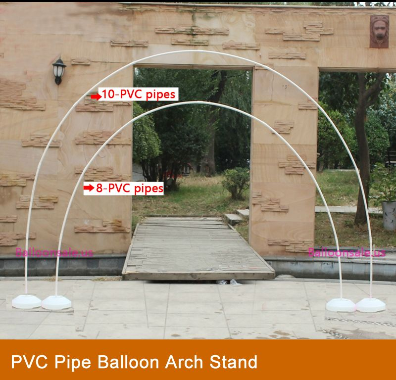 make a balloon arch stand with pvc pipe  cords pvc pipe Birthday Balloons Balloon Column Base