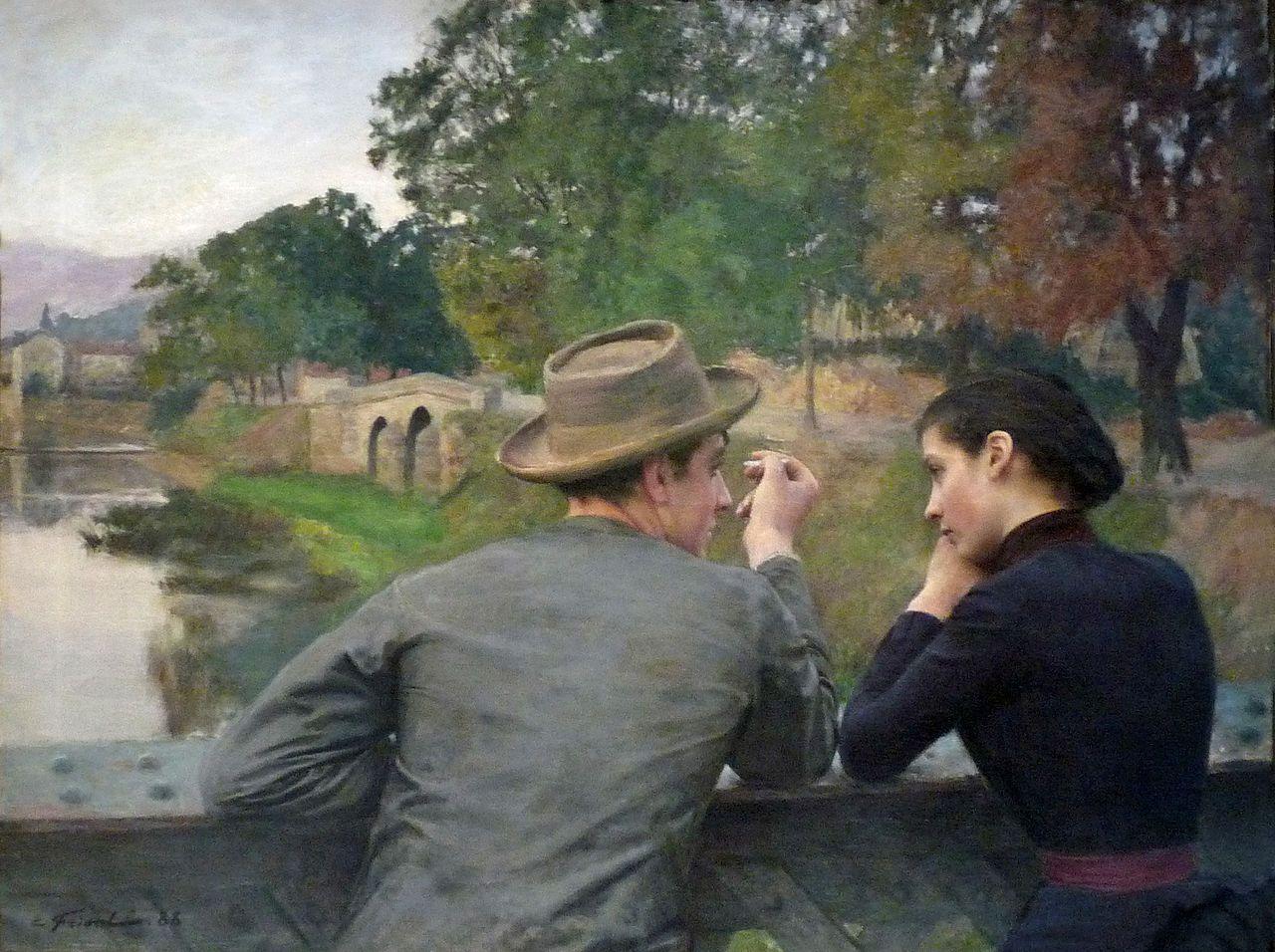 Les Amoureux (1888) by Emile Friant, Musée des Beaux-Arts de Nancy