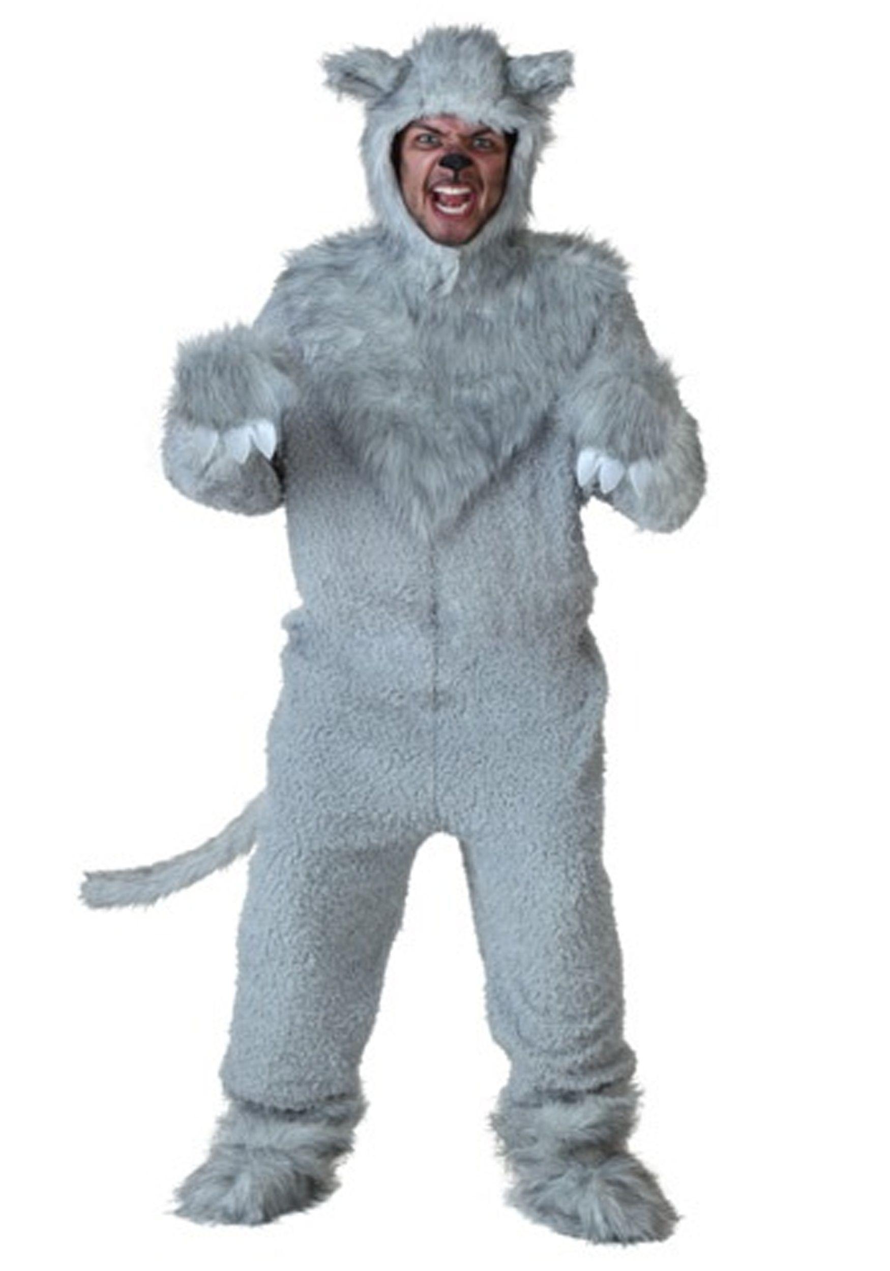 Adult Wolf Costume   Mens Halloween Costumes   Pinterest   Wolf ...